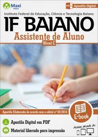Assistente de Aluno - Nível C - IF Baiano
