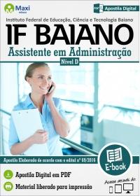 Assistente em Administração - IF Baiano