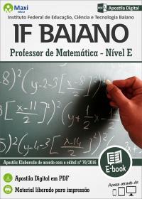 Professor de Matemática - IF Baiano