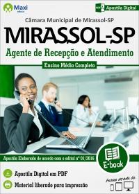 Agente de Recepção e Atendimento - Câmara de Mirassol - SP