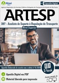 Analista de Suporte à Regulação de Transporte - ARTESP-SP