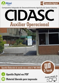 Auxiliar Operacional - CIDASC