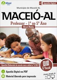 Professor 1º ao 5º Ano - Prefeitura de Maceió - AL
