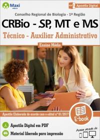 Técnico/Auxiliar Administrativo - CRBio 1ª Região - SP, MT e MS