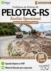 Auxiliar Operacional - Prefeitura de Pelotas - RS