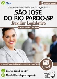 Auxiliar Legislativo - Câmara de São José do Rio Pardo - SP