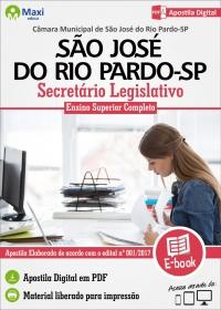 Secretário Legislativo - Câmara de São José do Rio Pardo - SP