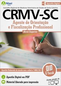 Agente de Orientação e Fiscalização Profissional - CRMV - SC