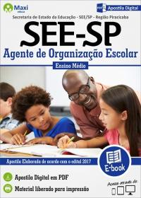 Agente de Organização Escolar - Região Piracicaba - SEE - SP