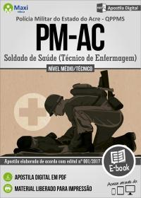 Soldado de Saúde - QPPMS - Técnico de Enfermagem - Polícia Militar - AC