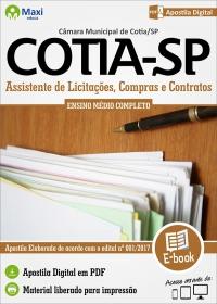 Assistente de Licitações, Compras e Contratos - Câmara de Cotia - SP
