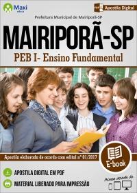 PEB I - Ensino Fundamental - Prefeitura de Mairiporã - SP