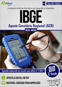 Agente Censitário Regional - ACR - IBGE
