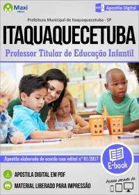 Professor Titular de Educação Infantil - Prefeitura de Itaquaquecetuba - SP