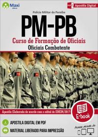 Curso de Formação de Oficiais - Of. Combatente - Polícia Militar - PB