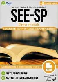 Diretor de Escola - SQC-II - QM - Suporte Pedagógico - SEE-SP