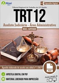 Analista Judiciário - Área Administrativa - TRT 12ª Região - SC