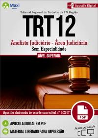 Analista Judiciário - Área Judiciária - Sem Esp. - TRT 12ª Região - SC