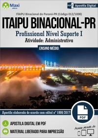 Profissional Nível Suporte I - Ativ. Administrativa - ITAIPU Binacional