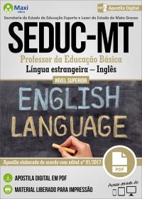 Professor da Educação Básica - Inglês - SEDUC - MT