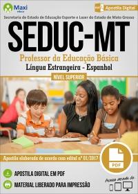 Professor da Educação Básica - Espanhol - SEDUC - MT