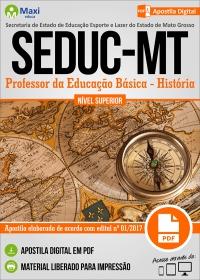 Professor da Educação Básica - História - SEDUC - MT