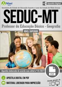 Professor da Educação Básica - Geografia - SEDUC - MT