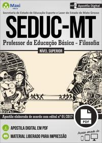 Professor da Educação Básica - Filosofia - SEDUC - MT
