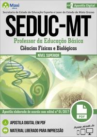 Professor da Educação Básica - Ciências Físicas e Biológicas - SEDUC - MT