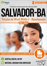 Técnico de Nível Médio I - Atendimento - Prefeitura de Salvador - BA