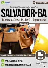 Técnico de Nível Médio II - Operacional - Prefeitura de Salvador - BA