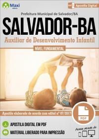 Auxiliar de Desenvolvimento Infantil - Prefeitura de Salvador - BA