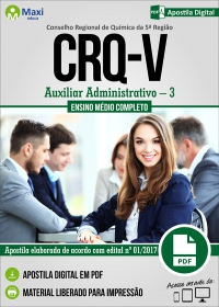 Auxiliar Administrativo - 3 - CRQ 5ª Região - RS