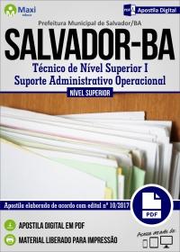 Téc. de Nível Superior I - Suporte Admin. Operacional - Pref. de Salvador - BA