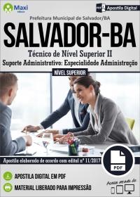 Téc. de Nível Superior II - Sup. Adm. - Administração - Pref. de Salvador - BA