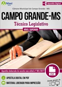 Técnico Legislativo - Câmara de Campo Grande - MS