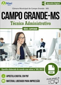 Técnico Administrativo - Câmara de Campo Grande - MS