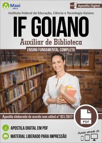 Auxiliar de Biblioteca - IF Goiano