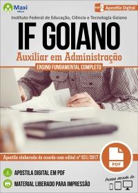 Auxiliar em Administração - IF Goiano