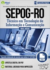 Técnico em Tecnologia da Informação e Comunicação - SEPOG - RO