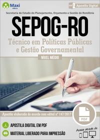 Técnico em Políticas Públicas e Gestão Governamental - SEPOG - RO
