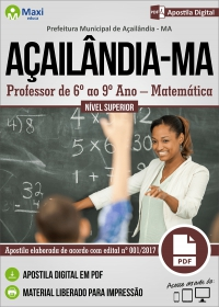 Professor de 6º ao 9º Ano - Matemática - Prefeitura de Açailândia - MA