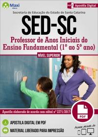 Professor de Anos Iniciais do Ensino Fundamental - SED - SC