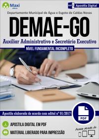 Auxiliar Administrativo e Secretário Executivo - DEMAE - GO
