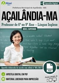 Professor de 6º ao 9º Ano - Língua Inglesa - Prefeitura de Açailândia - MA