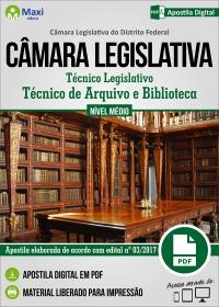 Técnico de Arquivo e Biblioteca - Câmara Legislativa - DF