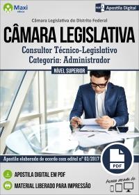 Consultor Técnico-Legislativo - Administrador - Câmara Legislativa - DF