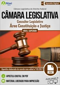 Consultor Legislativo - Área Constituição e Justiça - Câmara Legislativa - DF