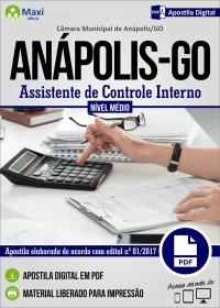 Assistente de Controle Interno - Câmara de Anápolis - GO