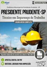 Técnico em Segurança do Trabalho - Prefeitura de Presidente Prudente - SP